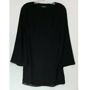 Express Dress Cut Out Back Long Sleeve Tunic Mini